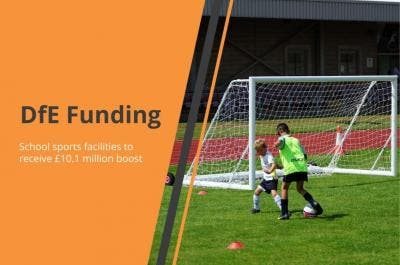 School sports facilities to receive £10.1 million boost