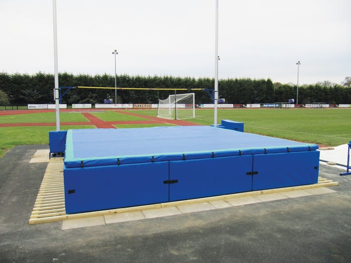 Stadia Base Platforms for High Jump Landing Areas