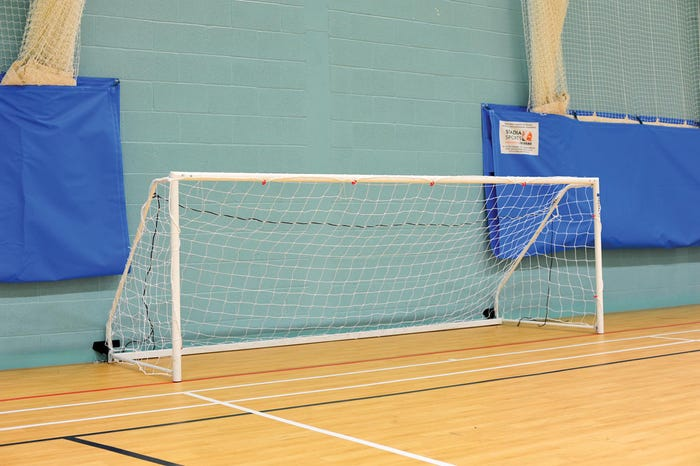 Heavyweight Freestanding Steel Football Goals Package - 8' x 4'