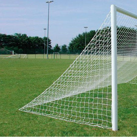 Pair of Straight Runback Football Goal Nets | 3mm Twisted Polyethylene | Various Sizes