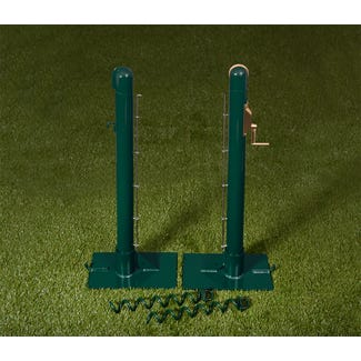 Round Steel Tennis Posts - Grass Court