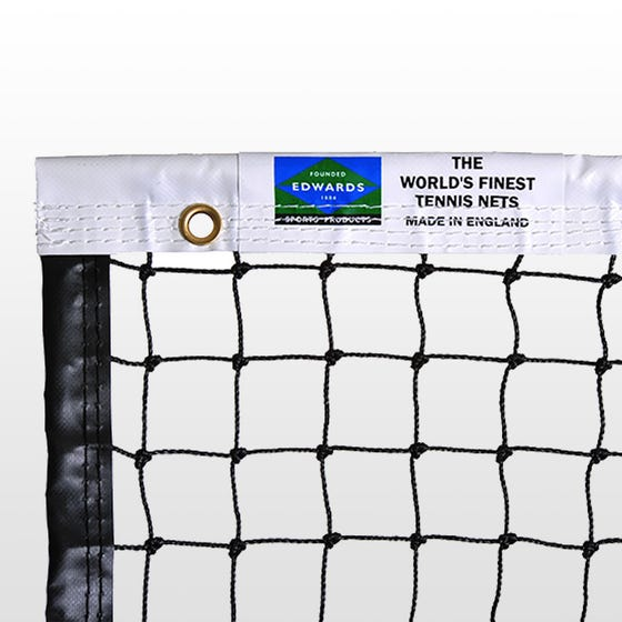 Edwards Matchplay Tennis Net 2.5mm with Vinyl Coated Fabric Headband  / Quad Stitched