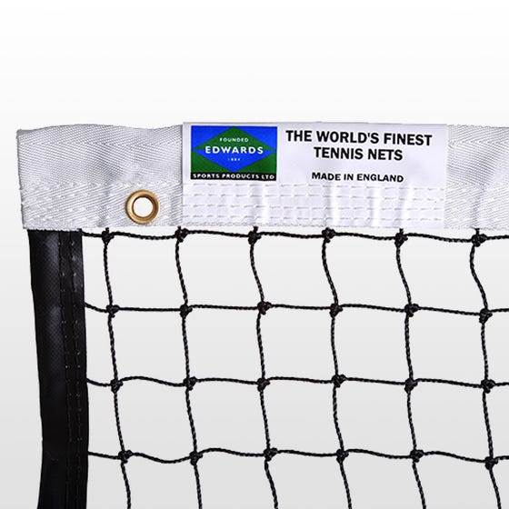 Edwards Matchplay Tennis Net 2.5mm with Polyester Headband / Quad Stitched