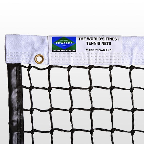 Edwards Championship Tennis Net 3.5mm with Polyester Headband / Quad Stitched