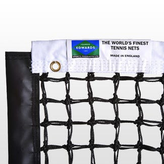 Edwards Championship Tennis Net 3.5mm with Polyester Headband / Quad Stitched & Double Netting