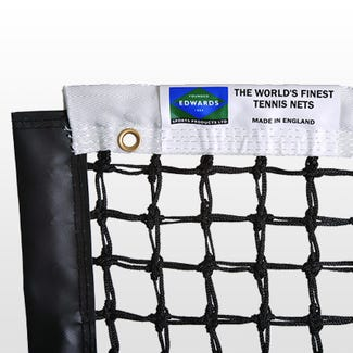 Edwards Championship Tennis Net 3.5mm with Premium Polyester Headband / Quad Stitched & Double Netting