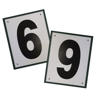 Tennis Court Number Plates