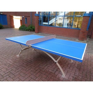 Stadia Outdoor Table Tennis Table complete with bats and balls