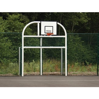 Base Leisure's BL106 Combination MUGA Goal Unit complete with side panels