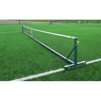 Heavy Duty Tournament Freestanding Tennis Posts Package with net and trolleys