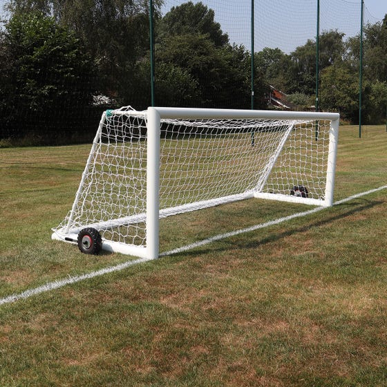 Self Weighted Rollaway Football Goal Posts - 12' x 4'