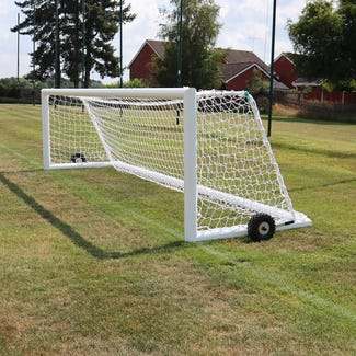 Self Weighted Rollaway Football Goal Posts - 16' x 4'