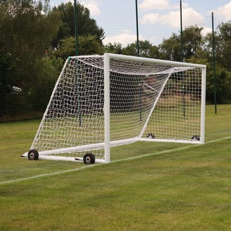 Self Weighted Rollaway Football Goal Posts - 16' x 6'