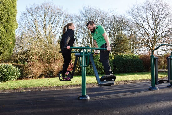 double slalom skier |outdoor air skier | outdoor fitness equipment from Sunshine Gym