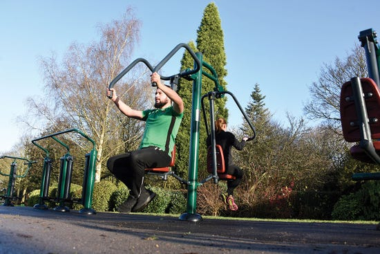 Combi Pull Down Challenger and power push  | Outdoor Chest press and Lat pull down | outdoor fitness equipment from Sunshine Gym