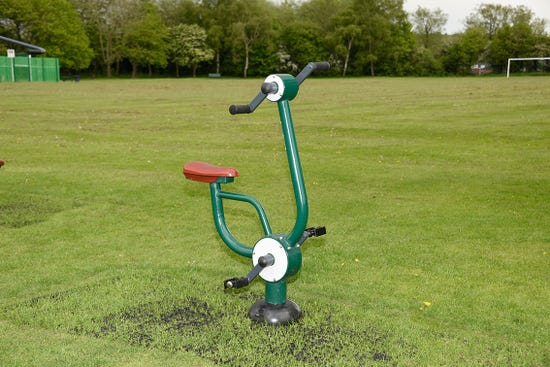 Arm and pedal bicycle |outdoor arm and pedal bike | outdoor fitness equipment from sunshine gym