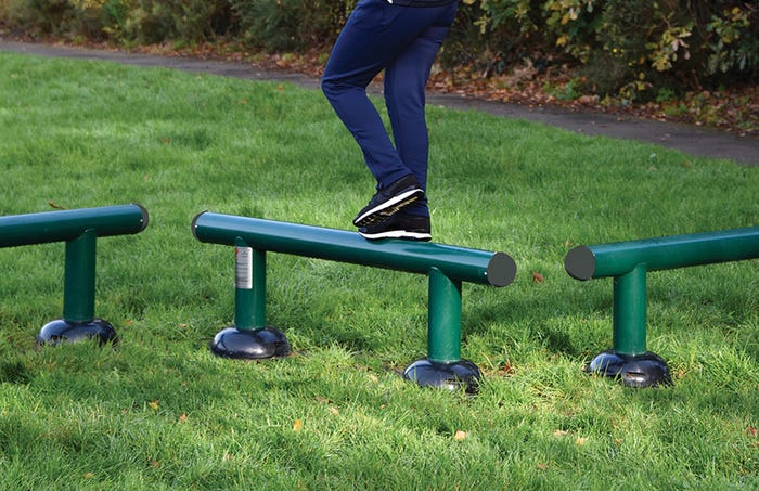 Children's Balance Beams | Children's Fitness Trail | Children's outdoor fitness equipment from Sunshine Gym