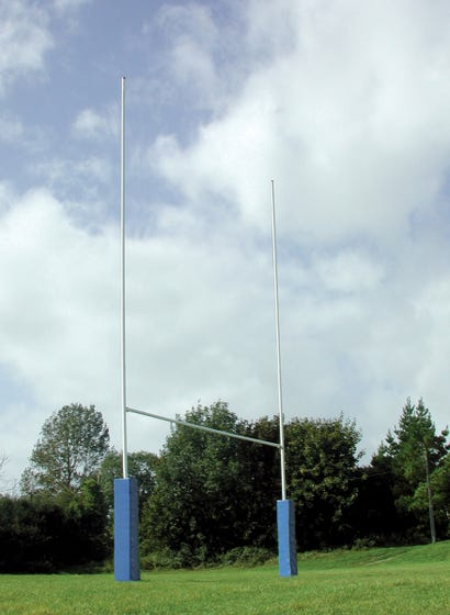 Steel Rugby Posts - Hinged