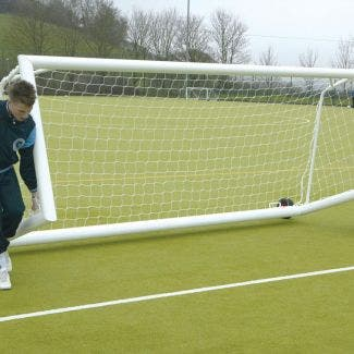 Self Weighted Rollaway Football Goals Package - 16' x 4'