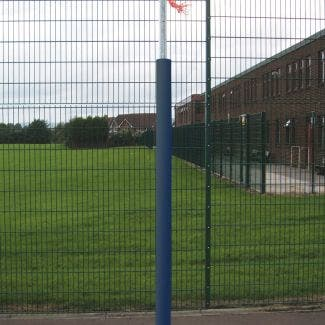 Stadia Socketed Club Netball Posts - Pair complete with nets