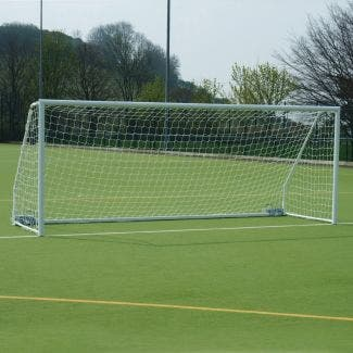 80mm Aluminium Freestanding Foldaway Football Goal Posts - 16' x 7'
