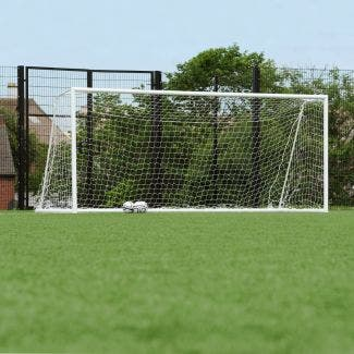 80mm Aluminium Freestanding Football Goal Posts - 16' x 7'