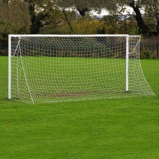 Heavyweight Socketed Steel Football Goals Package - 16' x 7'