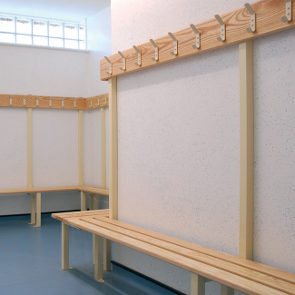 Changing Room Benches - Single Sided Island Unit - 0.5mtr long