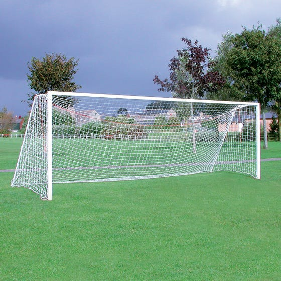 Extra Heavyweight Square Steel Football Goal Posts - 24' x 8'