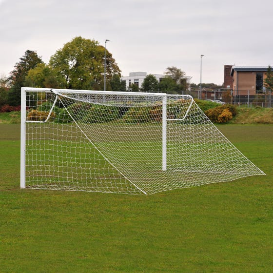 Heavyweight Socketed Steel Mini Soccer Goals Package - 12' x 6'