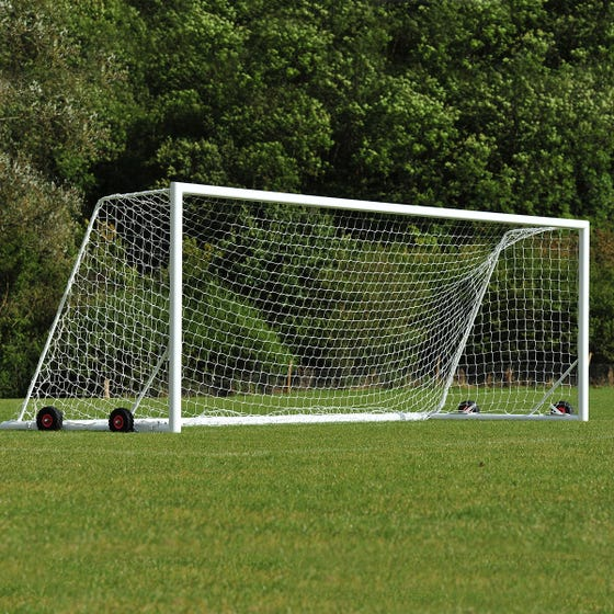 Self Weighted Rollaway Football Goal Posts - 24' x 8'