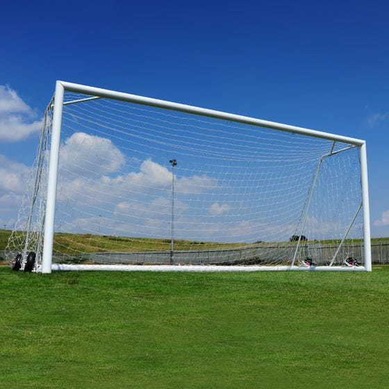 Self Weighted Rollaway Football Goals Package - 16' x 7'