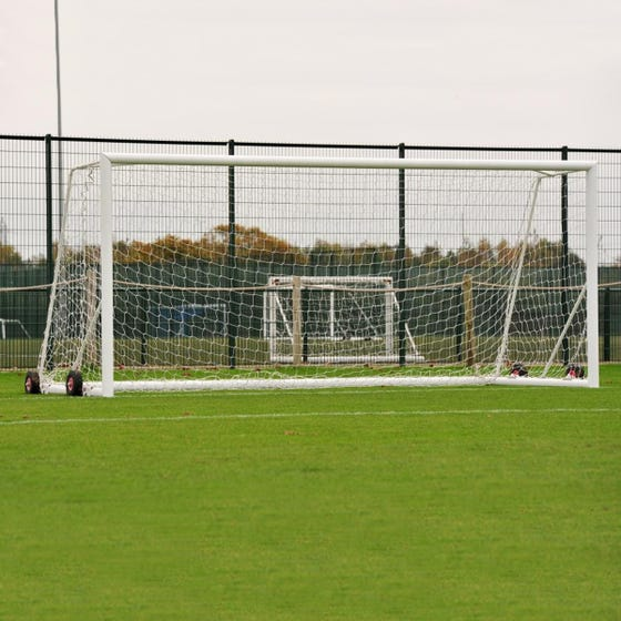Self Weighted Rollaway Football Goals Package - 21' x 7'