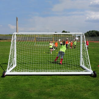 Self Weighted Rollaway Mini Soccer Goal Posts - 12' x 6'