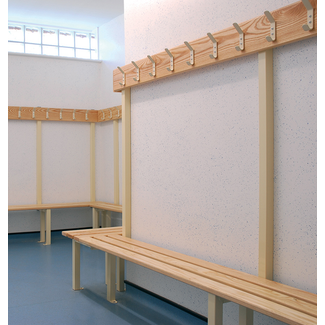 Changing Room Benches - Single Sided Island Unit