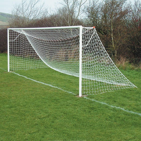 Socketed Steel Football Goals Package - 21' x 7'